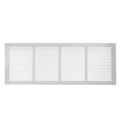 "24"" x 8"" White Baseboard Return Air Grille (657 Series) Product Image"