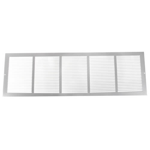 """30"""" x 8"""" White Baseboard Return Air Grille (657 Series) Product Image"""