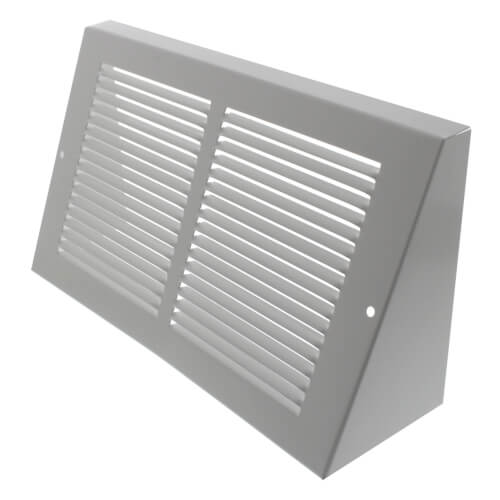 """10"""" x 6"""" White Baseboard Return Air Grille (658 Series) Product Image"""