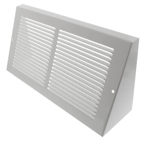 """12"""" x 6"""" White Baseboard Return Air Grille (658 Series) Product Image"""