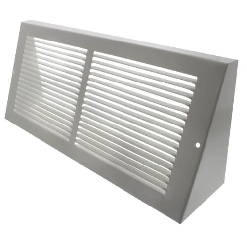 """14"""" x 6"""" White Baseboard Return Air Grille (658 Series) Product Image"""