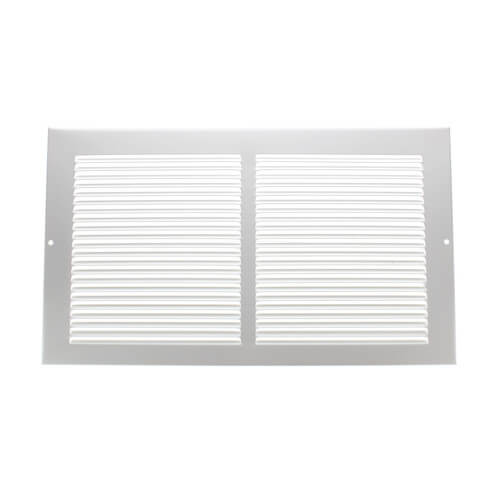 "14"" x 8"" White Baseboard Return Air Grille (658 Series) Product Image"