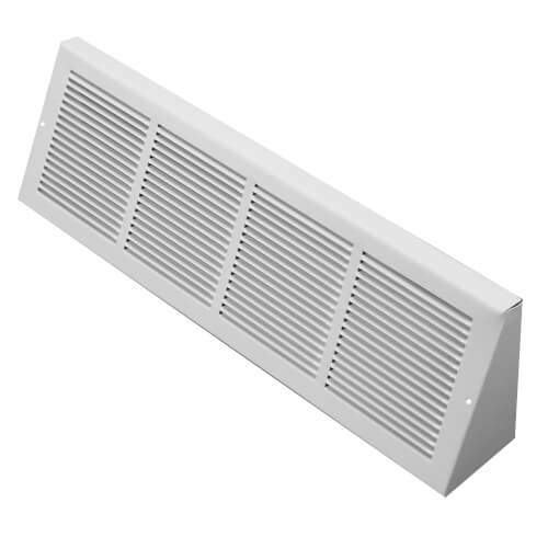 """24"""" x 6"""" White Baseboard Return Air Grille (658 Series) Product Image"""