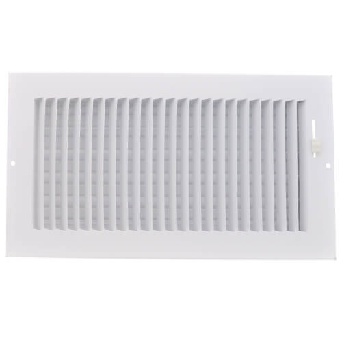 """12"""" x 6"""" (Wall Opening Size) White One-Way Steel Sidewall/Ceiling Register (681 Series) Product Image"""