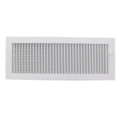 """18"""" x 6"""" (Wall Opening Size) White One-Way Steel Sidewall/Ceiling Register (681 Series) Product Image"""