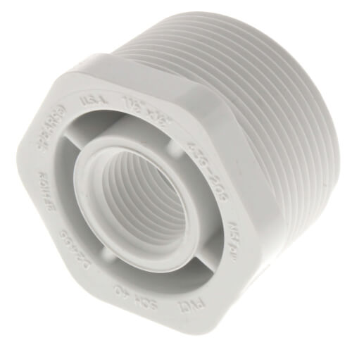 "1-1/2"" x 1/2"" PVC SCH 40 M x F Bushing Product Image"