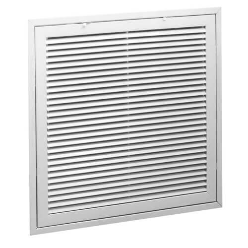 """20"""" x 20"""" (Wall Opening Size) White Steel Fixed-Bar Filter Grille (96AFBTI Series) Product Image"""