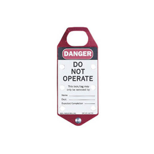 Labeled Safety Lockout Hasp, Red (Card of 1) Product Image