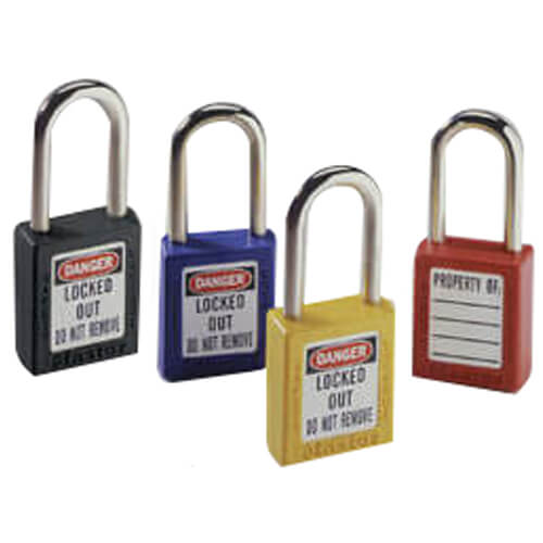 """Yellow Safety Lockout Padlock with 1-1/2"""" Shackle Clearance (Card of 1) Product Image"""