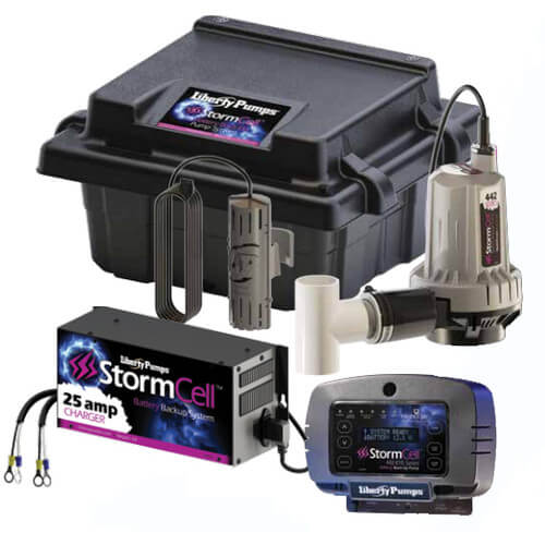 Stormcell Dual Battery Back Up Pump High Output System w/ NightEye (25A) Product Image
