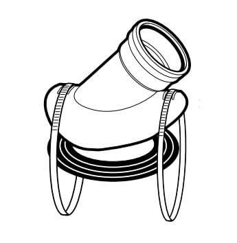 """4"""" x 8"""" PVC SDR 35 Saddle Wye (Gasketed) Product Image"""