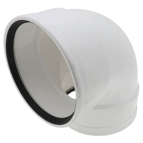 """8"""" PVC SDR 35 1/4 Bend 90° Elbow (G x G) Product Image"""