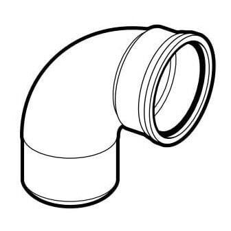 "12"" PVC SDR 35 1/4 Bend 90° Elbow, Street (Spigot x G) Product Image"