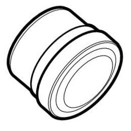 """6"""" PVC SDR 35 Fitting Cleanout (Spigot x Cap) Product Image"""