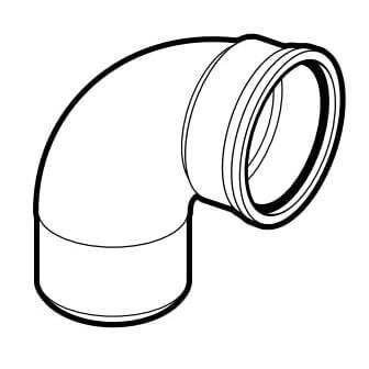 "6"" PVC SDR 35 1/4 Bend 90° Elbow, Street (Spigot x G) Product Image"