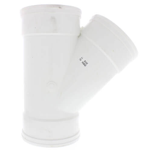 "10"" PVC SDR 35 1/8 Bend 45° Wye (G x G x G) Product Image"