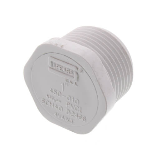 """1"""" PVC Schedule 40 Male Threaded Plug Product Image"""