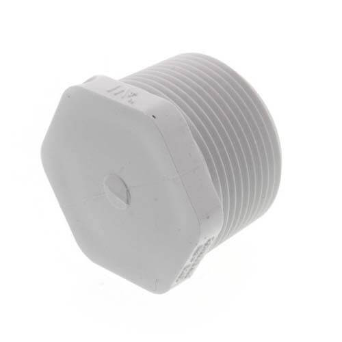 """1-1/4"""" PVC Schedule 40 Male Threaded Plug Product Image"""