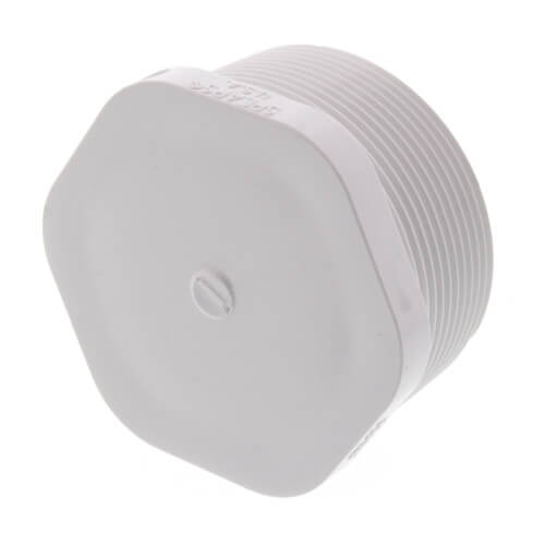 """2"""" PVC Schedule 40 Male Threaded Plug Product Image"""