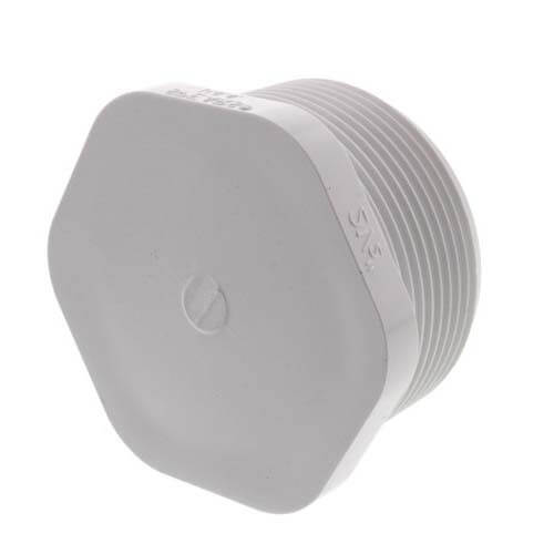 """2-1/2"""" PVC Schedule 40 Male Threaded Plug Product Image"""