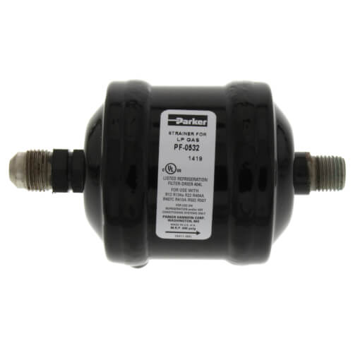 """3/8"""" SAE Male x 1/4"""" MPT PF0532 Refrigerant Recovery Dryer Filter Product Image"""