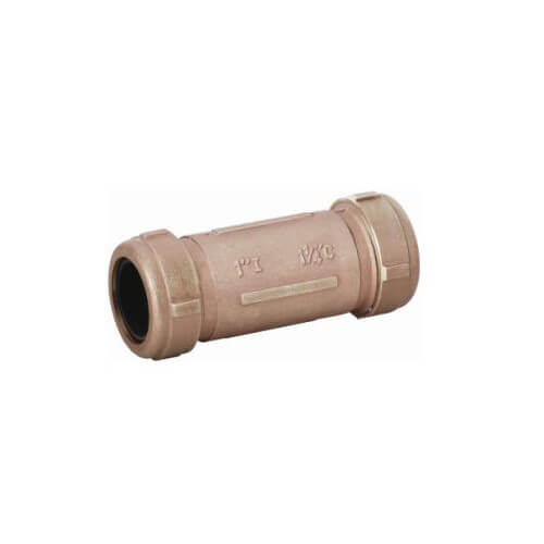 "1-1/2"" IPS Brass Compression Coupling Long (Lead Free) Product Image"