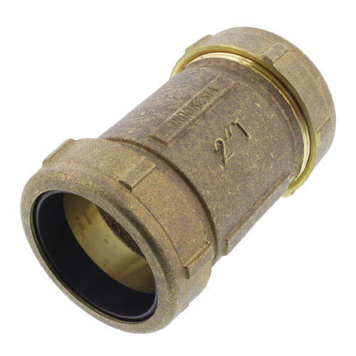 """2"""" IPS Brass Compression Coupling Long (Lead Free) Product Image"""