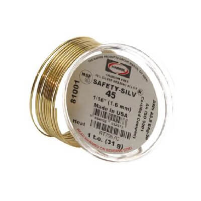 Safety-Silv 45 Silver Brazing Alloy Wire (3 per Pack) Product Image