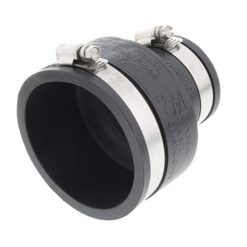 """3"""" x 1-1/2"""" Rubber Coupling (Cast Iron or PVC to Cast Iron or PVC) Product Image"""
