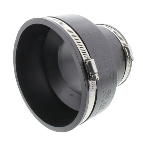 """6"""" x 4"""" Rubber Coupling (Cast Iron or PVC to Cast Iron or PVC) Product Image"""