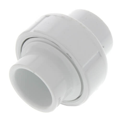 "1/2"" PVC Sch. 40 Socket Union w/ Buna-N O-ring Product Image"