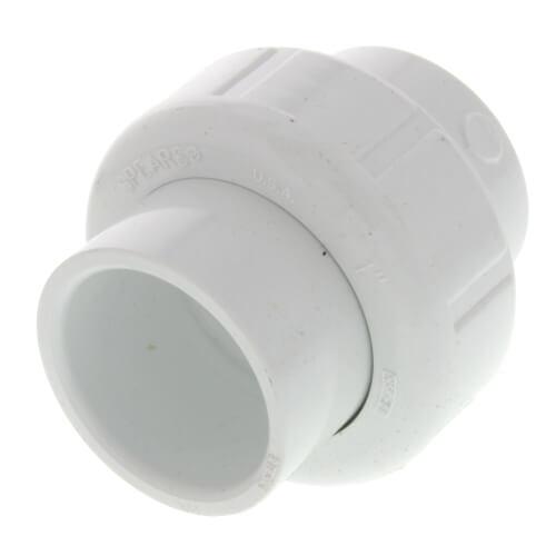 """1"""" PVC Sch. 40 Socket Union w/ Buna-N O-ring Product Image"""