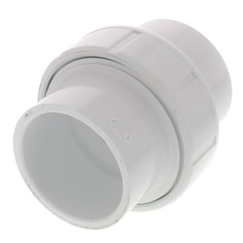"""1-1/4"""" PVC Sch. 40 Socket Union w/ Buna-N O-ring Product Image"""