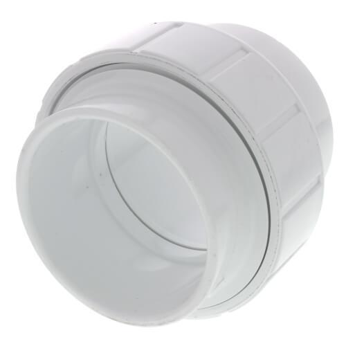 """3"""" PVC Sch. 40 Socket Union w/ Buna-N O-ring Product Image"""
