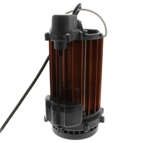 1/2 HP Automatic Aluminum Submersible Sump Pump w/ Magnetic Vertical Float Switch - 115v - 10 ft Cord Product Image