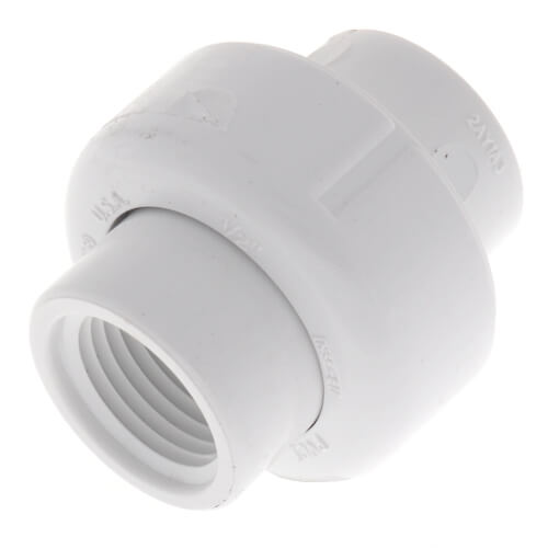 "1/2"" PVC Sch. 40 Female Union w/ Buna O-ring Product Image"