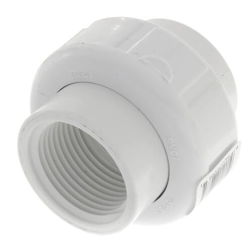 "1"" PVC Sch. 40 Female Union w/ Buna O-ring Product Image"