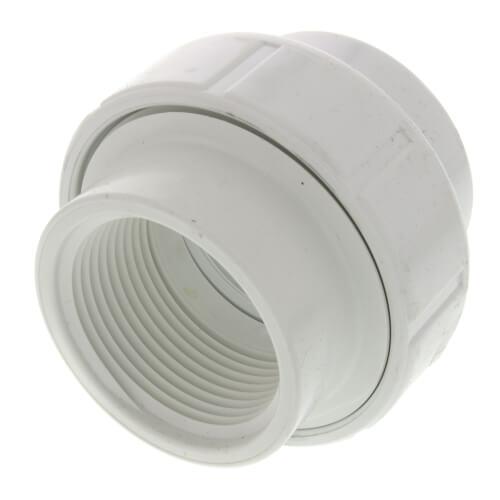 "1-1/4"" PVC Sch. 40 Female Union w/ Buna O-ring Product Image"