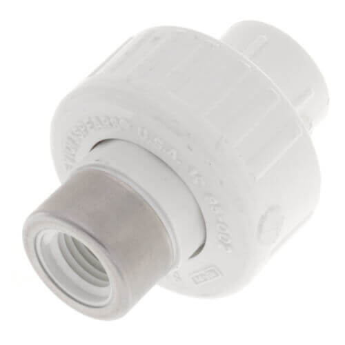 "3/8"" PVC Socket x SR Female Union w/ Buna O-ring Product Image"