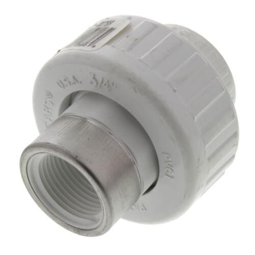 "3/4"" PVC Socket x SR Female Union w/ Buna O-ring Product Image"