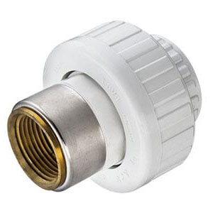 "1-1/2"" PVC Sch. 40 Socket x Female Transition Union w/ Buna O-ring Product Image"