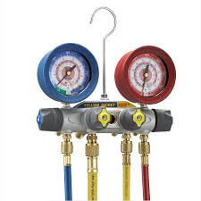 """Brute II 4 Valve Test & Charging Manifold w/ 60"""" PLUS II Compact Ball Valve (R-22/404A/410A) Product Image"""