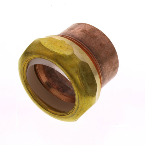 "1-1/4"" Copper DWV Sweat Trap Adapter (C x Slip Joint) Product Image"