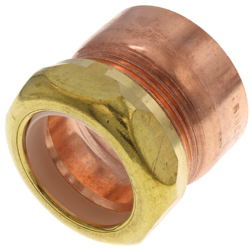 """1-1/2 x 1-1/4"""" Copper DWV Male Trap Adapter (M x Slip Joint) Product Image"""