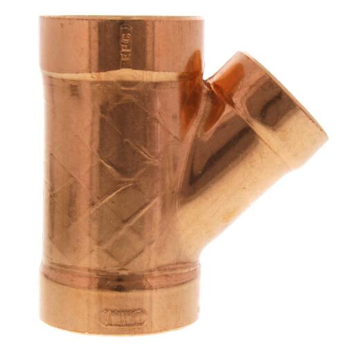 "2"" x 2"" x 1-1/2"" Wrot Copper DWV Wye Product Image"
