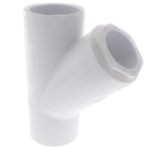 """1-1/4"""" x 1-1/4"""" x 1"""" PVC Sch. 40 Wye Product Image"""