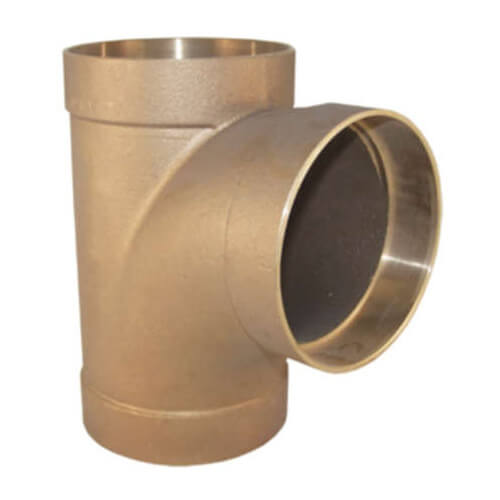 """4"""" Cast Copper DWV Sanitary Tee Product Image"""