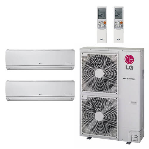 48,000 BTU 18.4 SEER Ductless Dual Zone Heat Pump Package (24+24) Product Image