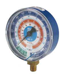 "2-1/2"" Blue Single Test Compound Gauge with 19110 Quick Coupler (R-12/22/502) Product Image"