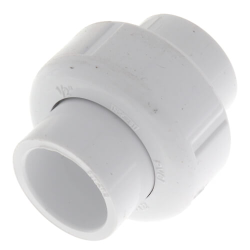 "1/2"" Sch. 40 PVC Socket Union w/ EPDM O-ring Product Image"